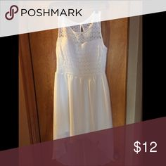 White summer dress Gorgeous dress for a summer occasion. Worn once on Graduation day. White, size medium. Charlotte Russe Dresses High Low