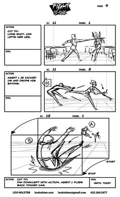 Fight Scene is a storyboard sequence I put together for my portfolio. Fight Scene SB page 09 Storyboard Drawing, Animation Storyboard, Comic Drawing, Manga Drawing Tutorials, Drawing Techniques, Drawing Tips, Painting Tutorials, Perspective Drawing Lessons, Perspective Art