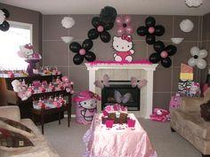 "Photo 1 of 38: Hello Kitty / Birthday ""Hello Kitty's Spa Party by Utopia Decor""   Catch My Party"