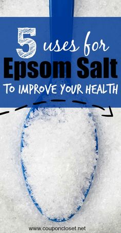 Alternative Uses for Epsom Salt for your health beauty and home  - here are 5 uses for Epsom salt that will improve your health.