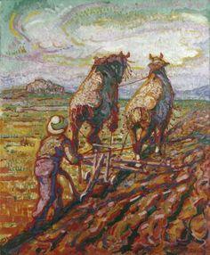 Ploegende boer
