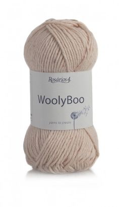 WoolyBoo Ecológico: 50% Cotton/Algodão, 35% Bamboo/Bambu, 15% Wool/Lã
