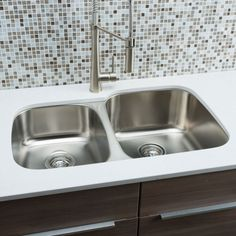 "Found it at Wayfair - Classic Chef Series 32"" x 20.63"" 40/60 Double Bowl Kitchen Sink"
