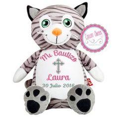 Peluche personalizado mensaje bordado Gato