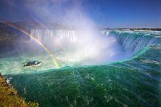 Double Rainbows on the Edge of Horseshoe Falls at Niagara Falls. © Daniel Peckham