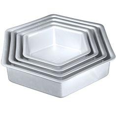 """{Hexagon Cake Pan-14"""" x 2""""}"""