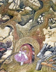 Angel Dominguez  : Down The Rabbit Hole :   Angel is one of the BEST illustrators of children's books and nature art today!