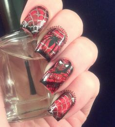 Tips and Topcoat: Spider-Man Nail Art ;)