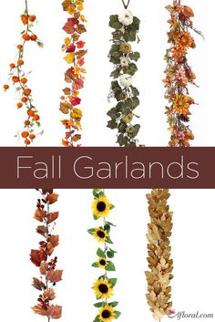 Fall garlands for ho