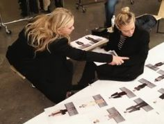 OLSENS ANONYMOUS MARY KATE ASHLEY OLSEN BEHIND THE SCENES FALL ELIZABETH AND JAMES FALL 2012 LOOKBOOK STRIPES BLAZER JACKETS SWEATERS SKINNY JEANS LEATHER BUN FUR COAT BALENCIAGA SNEAKERS TRAINERS photo by olsensanonymous