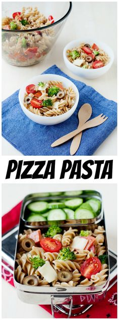 Add a little variety to your kids' lunchboxes with this easy pizza pasta salad recipe Healthy Dinner Recipes For Weight Loss, Salad Recipes For Dinner, Healthy Salad Recipes, Healthy Snacks, 500 Calories, Orzo, Omega 3, Quinoa, Pizza Pasta Salads
