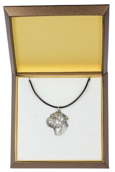 NEW Bullterrier dog necklace in casket limited by ArtDogshopcenter Basenji Dogs, Doberman Pinscher Dog, Whippet Dog, Yorkie Dogs, Weimaraner, Dachshund, Corgi Dog, Rottweiler Dog, Bloodhound