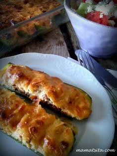 κολοκύθια παπουτσάκια Lasagna, Main Dishes, Cooking Recipes, Chicken, Meat, Ethnic Recipes, Food, Gastronomia, Kitchens