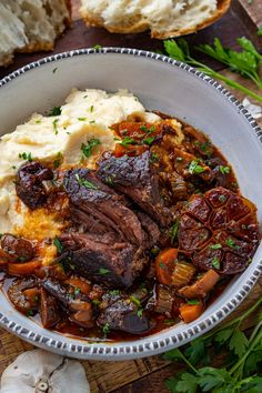 French Style Braised Short Ribs - - A French style slow braised short ribs in a tasty sauce! Rib Recipes, Cooking Recipes, Healthy Recipes, Steak Dinner Recipes, Recipies, Dinner Entrees, Smoker Recipes, Beef Dishes, Food Dishes