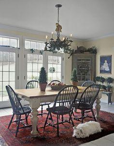 Farmhouse table leg inspiration. . . Christmas Kitchen