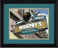 Your Name on a sign as proprietor of your Jacksonville Jaguars NFL Fan Room or Game Room.