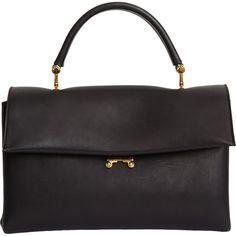 Marni Small Gusset Bag (€855) ❤ liked on Polyvore featuring bags, handbags, purses, handbags purses, marni bag, fold over handbag, flat bags and purse bag