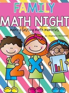 Family Math Night K-3 is designed for a school wide event.  100 pages of exactly what you need.  Includes the hands-on games, station signs, parent welcome sign, parent invitation letter, table tent signs for directions, a letter for parents on how to help their child at home, sign in sheet, and all printables needed.Games:1.