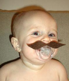 Happy Movember - Baby Dummy Moustache