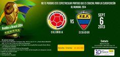 !!!!!!!ÚLTIMO CUPO!!!!!!!   para ver a nuestra Selección #Colombia clasificarse a la Copa Mundial de la FIFA #Brasil2014