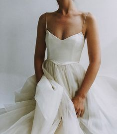Be kind and stand up for the Earth -Today and everyday. Every small choice adds up. Walk to your destinations, refuse that plastic… Soft Wedding Dresses, Ethereal Wedding Dress, Tulle Wedding, Formal Dresses, Strappy Wedding Dress, Backless Wedding, Whimsical Wedding, Gown Wedding, Mermaid Wedding