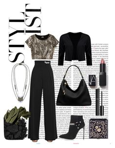 """New Year look"" by tinselwear on Polyvore featuring Oris, Emporio Armani, Hollister Co., Yves Saint Laurent, Boohoo, Michael Kors, Urban Decay, Bobbi Brown Cosmetics, Black and Chanel"