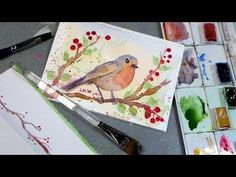 Let's Paint a Robin in Watercolor!  Shows how to draw and paint.  .  .
