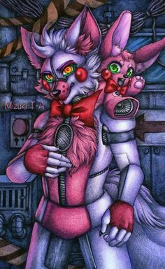 Fox and the rabbit / FNaF SL by Mizuki-T-A.deviantart.com on @DeviantArt