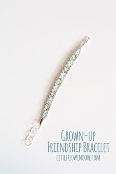 Grown-Up Friendship Bracelet | littleredwindow.com