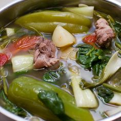 Sinigang na Baboy (a.k.a. Filipino Sour Tamarind Soup with Pork)