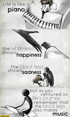 FR translation: Life is like a piano. The white keys represent the . - FR translation: Life is like a piano. The white keys represent joy. And the black keys represent sa - Mood Quotes, Positive Quotes, Motivational Quotes, Inspirational Quotes, Meaningful Quotes, Biblical Quotes, Smile Quotes, Bible Verses, Cute Quotes