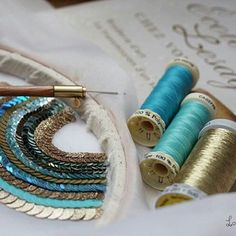 Tambour Beading, Tambour Embroidery, Couture Embroidery, Beaded Embroidery, Cross Stitch Embroidery, Hand Embroidery, Embroidery Designs, Textiles Techniques, Fabric Journals