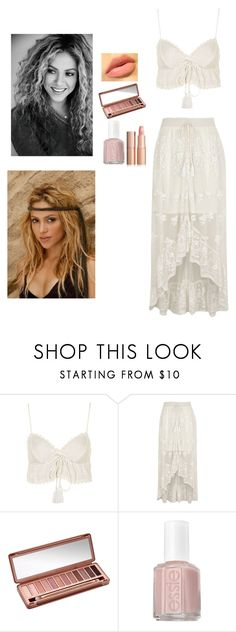 """""""Shakira"""" by littleangel66 ❤ liked on Polyvore featuring Topshop, River Island, Urban Decay and Essie"""