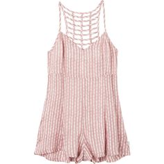 RVCA Women's  Rydess Romper ($55) ❤ liked on Polyvore featuring jumpsuits, rompers, playsuit romper, pink romper, pink rompers, rvca romper and rvca