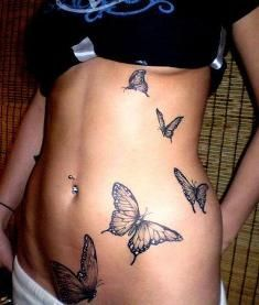 flowers butterfly tattoos - Google Search
