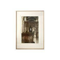 Original etching, Gothic Interior at Barking Suffolk England, by Valerie Thornton (British Signed lower right. Thornton was a painter &. Gothic Interior, Church Interior, Museum Of Modern Art, Art Museum, Tate Gallery, 17th Century Art, Victoria And Albert Museum, British Museum, Metropolitan Museum