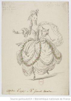 Azollan  1774 : [maquette de costume] / [Entourage de Louis-René Bouquet] - 1