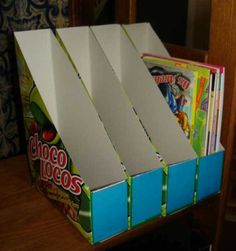 Como fazer organizador com caixas de papelão 005                                                                                                                                                                                 Mais