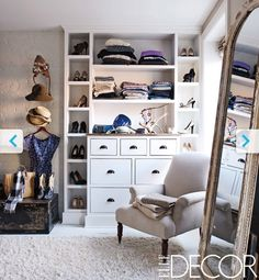 wardrobe inspiration - those shoe pigeon holes are great