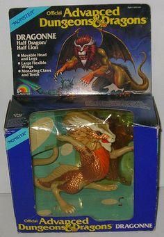Vintage 1983 Dungeons & Dragons DRAGONNE MONSTER FIGURE MIB