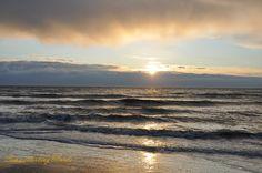 A beautiful sunset at Noordwijk aan Zee, a small town in south Holland. #beach #sunset #northsea #noordwijk