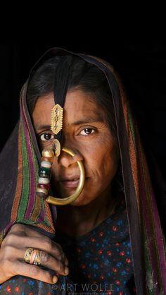 India | Portrait of a Jat woman, Gujarat. | ©Art Wolfe