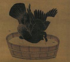 Li Di(李迪) , 李迪 禽浴图  台北故宫博物院藏