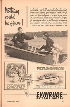 1946 Evinrude Outboard Motor Advertisement Popular Science February 1946   by SenseiAlan