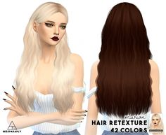 Cazy Marion hair retexture at Miss Paraply via Sims 4 Updates Cute Hairstyles Long, Teen Hairstyles, Sims 4 Teen, Sims Cc, Sims Love, Sims 4 Children, Sims Hair, The Sims 4 Download, Sims 4 Cas