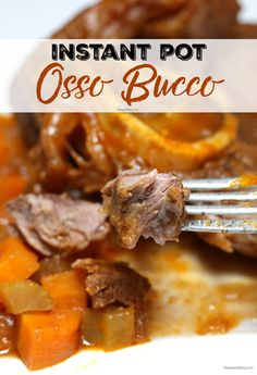 Pressure cooker recipes 77687162303144069 - Instant Pot Osso Bucco – A delicious and hearty braised beef recipe made quick and easy in the electric pressure cooker. Must try Instant Pot recipe! Oso Bucco Recipe, Pork Osso Bucco Recipe, Beef Shank Recipe Instant Pot, Best Instant Pot Recipe, Giada De Laurentiis, Instant Pot Pressure Cooker, Pressure Cooker Recipes, Instant Cooker, Pressure Cooking