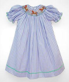 Look what I found on #zulily! Blue Horses Bishop Dress - Infant, Toddler & Girls #zulilyfinds
