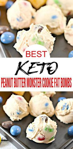 Keto fat bombs you won't be able to pass up! {Easy} low carb keto fat bomb recipe for best monster cookies  fat bombs. Perfect for ketogenic diet w/ keto friendly ingredients. Simple ingredient fat bombs tasty & delish. Great keto snacks on the go, keto dessert recipes -sweet treat. Quick keto candy peanut butter M & M chocolate fat bombs. Learn how to make fat bombs low carb #chocolate recipe- homemade not store bought-keto beginners recipe add to keto meal plan healthy #dessert #lowcarb
