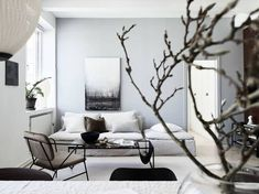 Home with blue-grey accents
