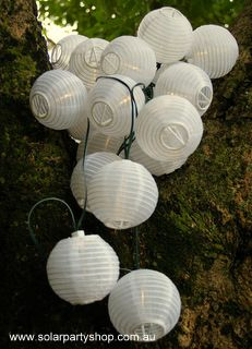 Allsop home and garden soji mini solar string of ten lanterns white 25 white solar lanterns with warm white led fairy lights from the solar party shop workwithnaturefo
